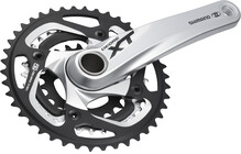 Shimano Deore XT FC-M780E22 4X silber ohne Kettenschutzring 